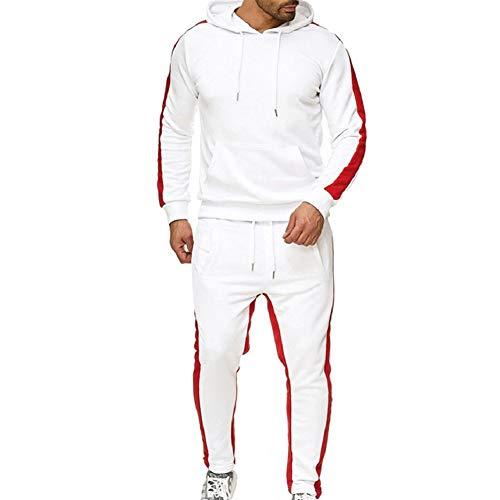 Danceyou trainingspak van polyester, voor heren en jongens, joggingpak met korte pluche voering, joggingbroek en jas met ritssluiting