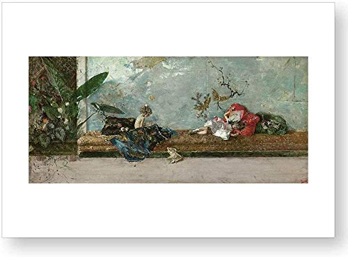 'Los hijos del pintor en el salón japonés', impresión oficial del Museo del Prado