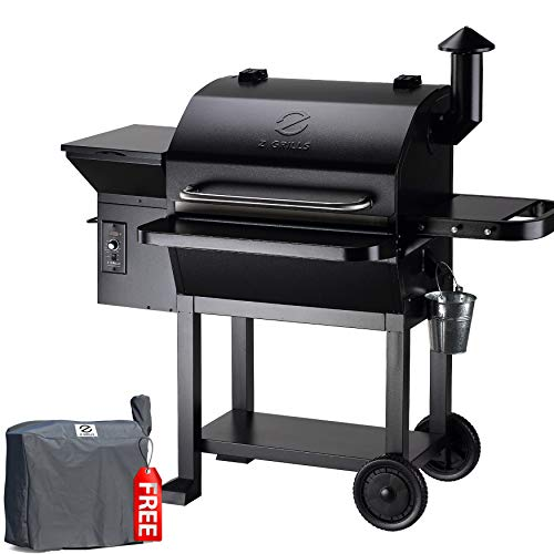 Z GRILLS ZPG-10002B 2020 New Model Wood Pellet Grill & Smoker, 8 in 1 BBQ Grill Auto Temperature Control, 1060 sq in Black