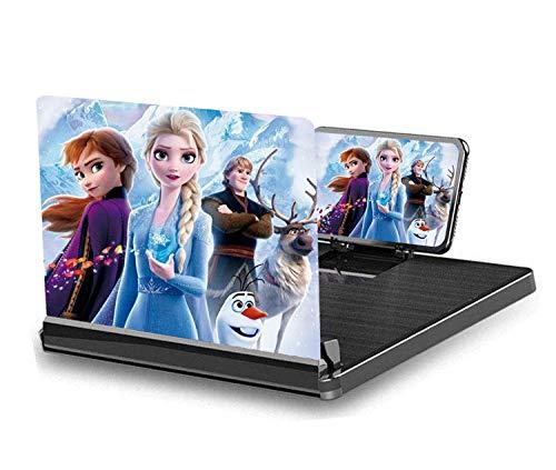 Peedeu 30,5 cm (12 Zoll) HD-Bildschirmvergrößerung, 3D-Bildschirmlupe, Anti-blaue Strahlung, tragbarer Heimkino-Handy-Verstärker für alle Smartphones (HD schwarz)