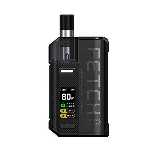 SMOK Fetch Pro RPM Pod 4.3ml Vape Kit Cigarette Electronique Fetch Pro RGC Pod 4.0ml Kit Complet - Sans Tabac Ni Nicotine (Noir)