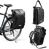 bikely 3in1 Fahrradtasche   Verwendbar als Gepäckträgertasche, Rucksack & Umhängetasche  ...