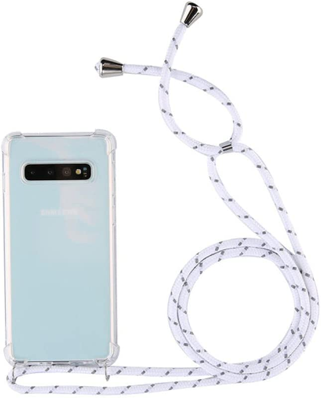 for Samsung Galaxy S10 5G S9 S8 Plus S10E Note 9 10pro Crossbody Strap Phone Case with Lanyard Necklace Shoulder Neck Strap Case,White Gray,for Sam S7Edge