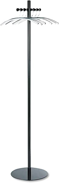 Safco Products 4192NC Nail Head Costumer Coat Rack Tree Black Silver