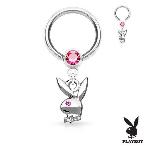 Helix piercing ring met playboy bunny hanger
