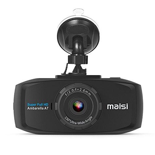 classement un comparer Caméra de voiture MAISI 2K Extreme HD Pro 1296p, écran 2,7 pouces,…