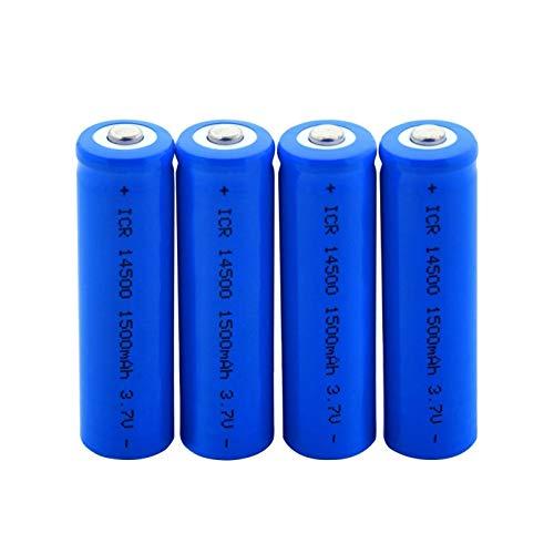 prbll BateríAs De Litio ICR 14500 3.7v 1500mah, Batería De ión De Litio para MicróFono Modelo aéReo 4pieces