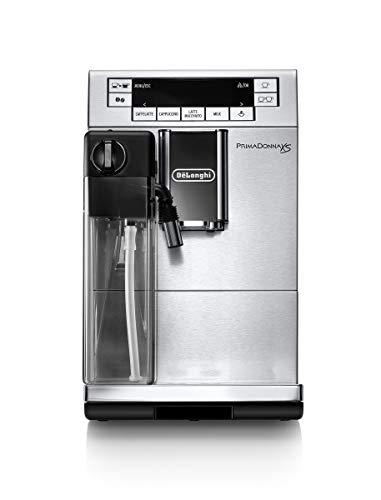 De'Longhi PrimaDonna XS Deluxe ETAM 36.365.MB - Cafetera Superautomática (15 bar de presión, muy estrecha (19,5 cm), pantalla digital, sistema LatteCrema)