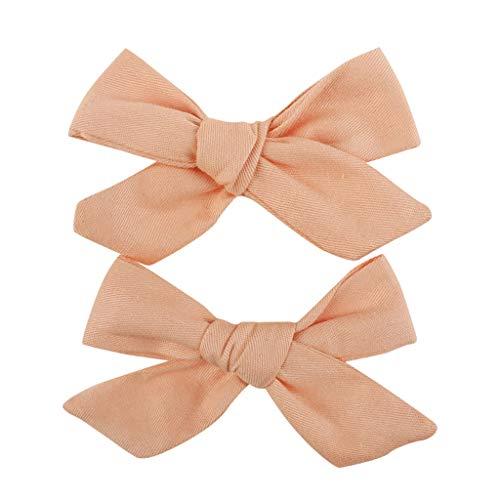 Winkey 1 paire coton bohème imprimé arc pinces à cheveux petites filles enfant en bas âge enfants enfants épingles à cheveux cheveux accessoires