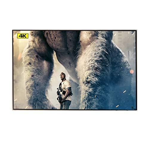 WOYZDN Luz Ambiental rechazando la Pantalla de proyector de Marco Fino Fijo de 90 90 100 120 133 Pulgadas para la proyección de Cine en casa (Size : 84 Inch)
