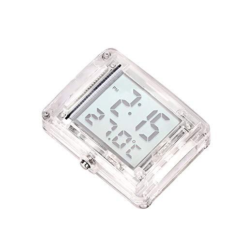 Reloj digital para motocicleta, termómetro digital y reloj electrónico, con indicador de 10 ~ 50 grados, con pantalla LCD para coche, motocicleta y bicicleta