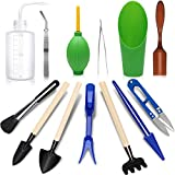 godehone 13PCS Succulent Tools Set, Mini Garden Hand Tools Set for Indoor Miniature Fairy Garden Plant Care