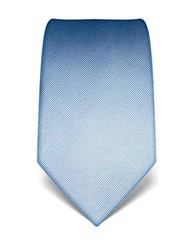 Vincenzo Boretti Corbata de hombre en seda pura, tono sobre tono, de rayas azul claro