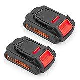 2pack DCB205 for Dewalt 20v Battery 2.5Ah XR Max Lithium Ion Compact DCB200 DCB201 DCB202 DCB203 DCB204 DCB206 DCB207 20 Volt Batteries