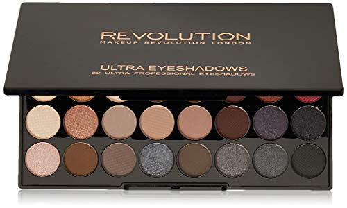 Makeup Revolution Ultra Eyeshadow Palette Flawless 2 Paleta 32 cieni do powiek 16g