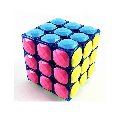 SMX Speed ​​Cube Beroep 3x3x3 Speed ​​Cube - Fast Smooth Draaien - Solid Duurzaam & Sticker minder Frosted, Beste 3D-puzzel Magic Toy