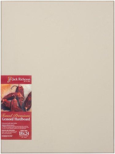 "Jack Richeson Richeson Umber Wash Toned Gessoed 1/8"" Hardboard 18""x24"""