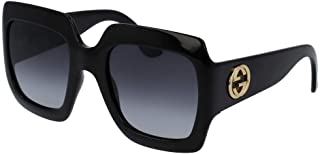 Gucci GG0053S Rectangle Sunglasses For Women+FREE Complimentary Eyewear Care Kit