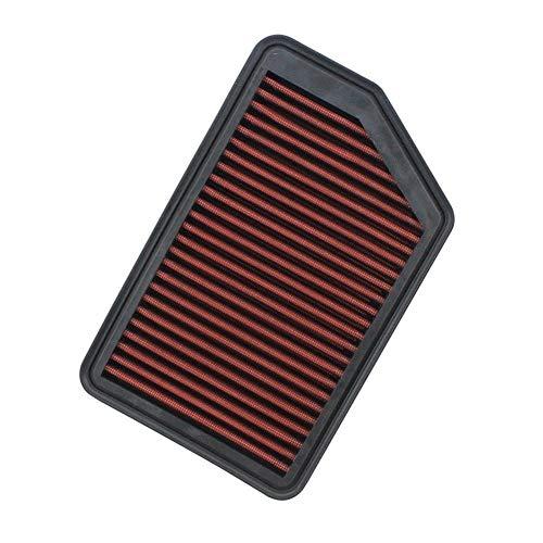 Lavable de alto flujo El reemplazo del filtro de aire for KIA CEED SPORTAGE FORTE CARENS de gran flujo de aire filtro de la toma for Hyundai Elantra IX35 TUCSON I40 I30 para auto ( Color : Red-Black )
