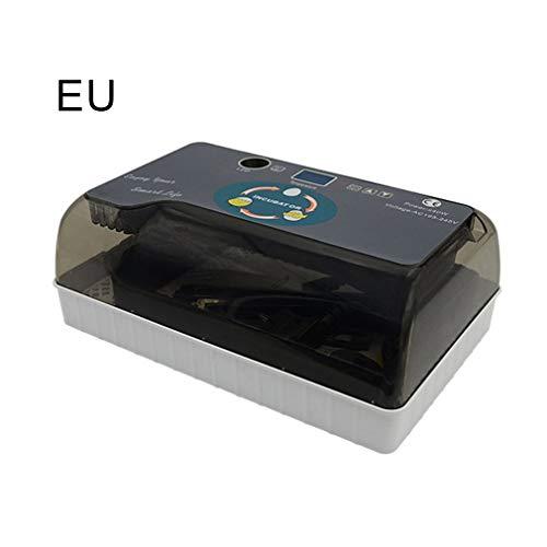 Incubadora Automática de 12 Huevos Eclosión Automática Inteligente del Dispositivo de Incubación Digital con Pantalla y Luz de LED Inversión Automática de Temperatura y Humedad