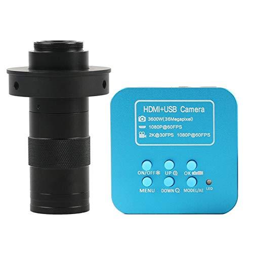 HYY-YY 36 MP FHD 2K 1080P 60FPS HDMI USB Digital Industrial 130x C Mount Objektiv Video Mikroskop Kamera für Telefon CPU PCB Löten (Farbe: 50 mm)