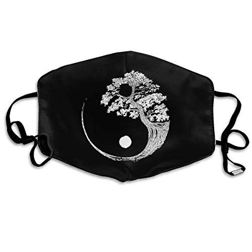 Multifunktionale Gesichtsschutzhülle,Yin Yang Bonsai Baum Japanische Buddhistische Zen Unisex Waschbare Wiederverwendbare Gesichtsdekorationen Für...