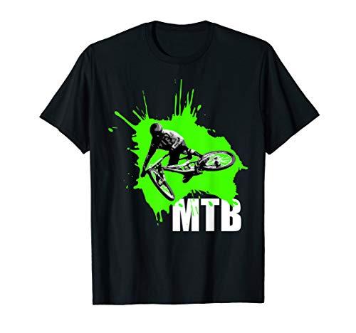 MTB Downhill Sprung Dirt bike grün T-Shirt