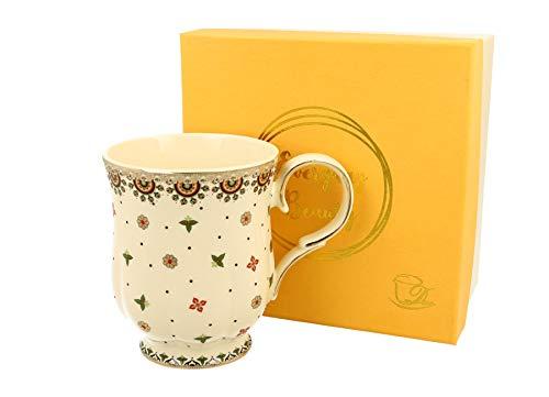 Duo Taza de porcelana de 450 ml Casablanca, en caja de regalo, clásica, taza de café y té