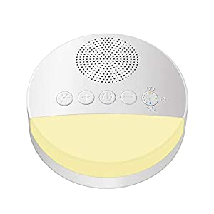 White Noise Machine, Portable Sleep Sound Machine with 6 Soothing All-Natural Sounds, Sleep Sound Therapy Machine Suitable for Home, Office, Travel, Baby, Tinnitus Sufferer and Light-Sleeper