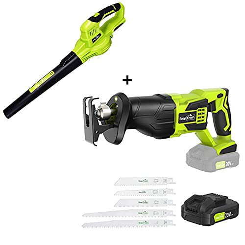 Cordless Reciprocating Saw+Leaf Blower