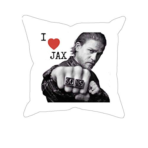 shenguang I Love Jax Novelty Sublimated Pillow Case - Cool TV Show Biker Bad Boy Pillow Cover is Great for Fans!