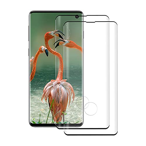 [2 Unidades] Protector de Pantalla de Cristal Templado para Samsung Galaxy S10 Plus, 3D Completa, Antiarañazos, Sin Burbujas, Dureza 9H, para Samsung Galaxy S10 Plus (Negro)