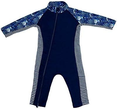 Stonz Premium Rash Guard Rashguard Sun Suit for Active Baby Boy Girl Long Sleeve UPF 50+ Swim Suit Top Sun Protection for Beach Pool Play, Surf Blue 3T