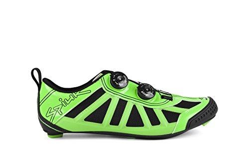 Spiuk Pragma Triathlon - Zapatillas unisex, color verde / negro, talla 38