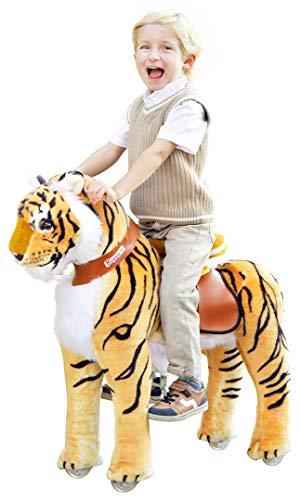 PonyCycle Tiger Tiger medium Schaukelpferd auf Rollen Inline Animal Pony Kuscheltier für Ihr Kind von MyPony