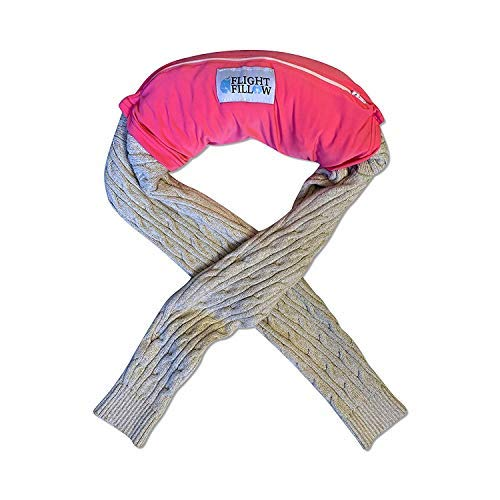 Neon Pink Flight Fillow   Washable Travel Pillow   Small Travel Pillow   Best Travel Pillow for Long Flights   Easy to Clean Travel Pillow