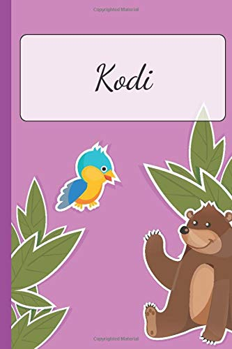 Kodi: Personalized Name Notebook for Girls | Custemized 110 Dot Grid Pages | Custom Journal as a Gift for your Daughter or Wife |School or Christmas or Birthday Present | Cute Diary