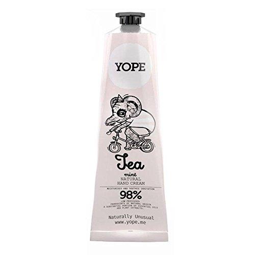 YOPE - Crema de manos con Té verde y Menta - Hidrata y suaviza la piel irritada; Eco amigable; Sin parabenos, siliconas, PEG, colorantes – 100 ml
