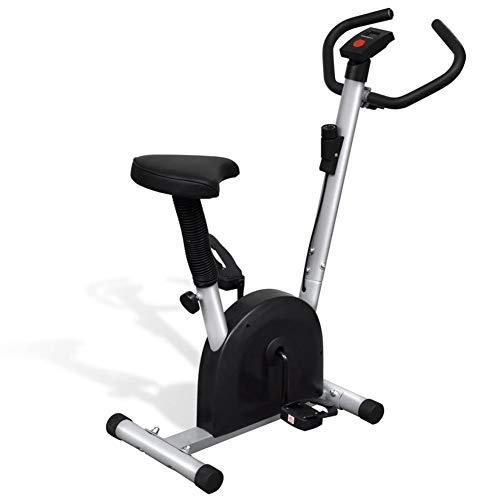 lahomie- Bicicleta estática de fitness con pantalla LCD, escritorio de pies Fitness...