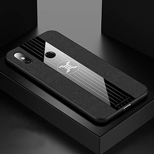 ZAORUN Cubiertas Protectoras de Cellphone Compatible para Xiaomi Mi MAX Caja Protectora de TPU 3 Costura Textura del paño a Prueba de Golpes (Color : Black)