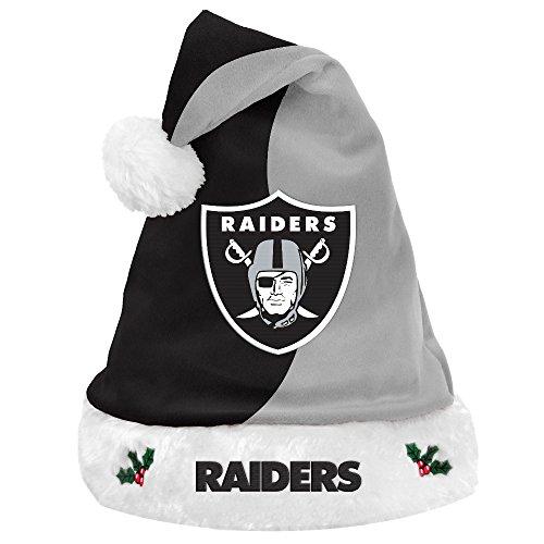 FOCO NFL Oakland Raiders Plush Holiday Santa Hat CapPlush Holiday Santa Hat Cap, Team Color, One Size
