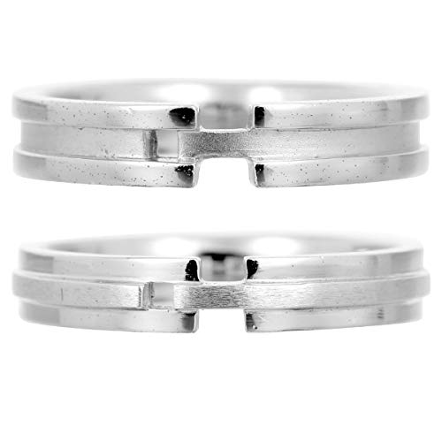 [ココカル]cococaru ペアリング 2本セット K18 ホワイトゴールド 結婚指輪 日本製 (レディースサイズ19号 メンズサイズ2号)