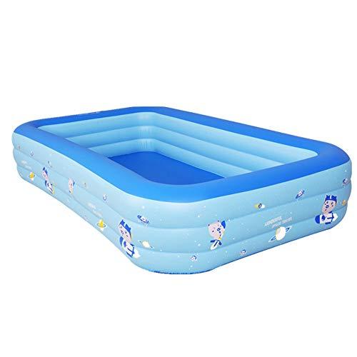 WQY Geeignet Für Kinder Kinder Erwachsene Indoor Outdoor Große Große Kunststoff-PVC-Spielplatz Schwimmen Aufblasbarer Pool 300 * 175 * 55Cm