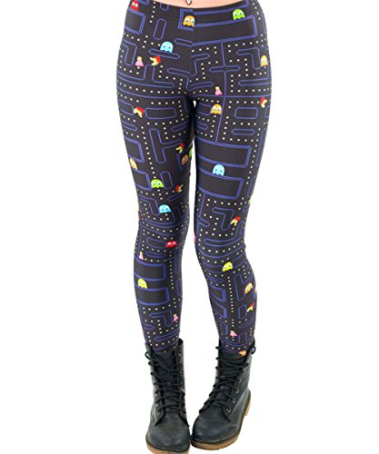 Women's Pac-Man Stretchy Leggings, Elasticated One Size