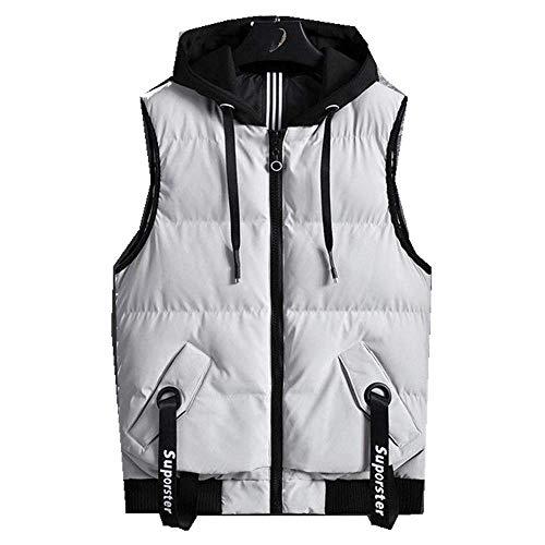 N\P Men's Cotton Waistcoat Grey