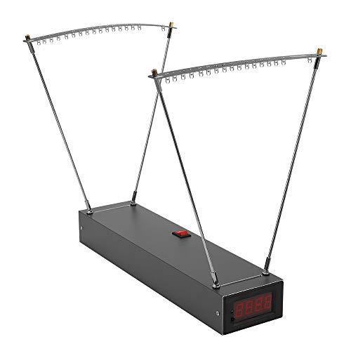 sazoley Velocimetry Geschwindigkeitsmessgerät Pro Bow Geschwindigkeitsmessgerät Aluminium Alloy Professional E9900-X 330 * 80 * 44mm