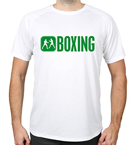buXsbaum® Sport Performance T-Shirt Boxing   S, Weiß