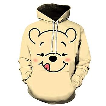 Kaopey Winnie The Pooh Youth Hoodies Sweatshirt Print Pullover Hooded Outdoor for Boys,Girls,Teens