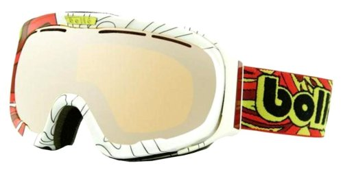 Bolle Fathom Goggle,Red Psychedelic,Amber Gun Lens