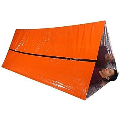Easyinsmile Life Tent Emergency Survival Shelter – 2 Person Emergency Tent – Use As Survival Tent, Emergency Shelter, Tube Tent, Survival Tarp Outdoor Life Bivy Emergency Sleeping Bag (Orange)